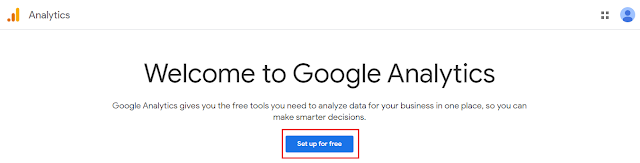 Set up Google Analytics account
