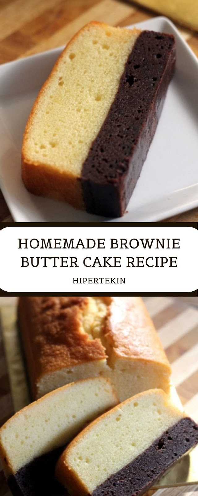 HOMEMADE BROWNIE BUTTER CAKE RECIPE