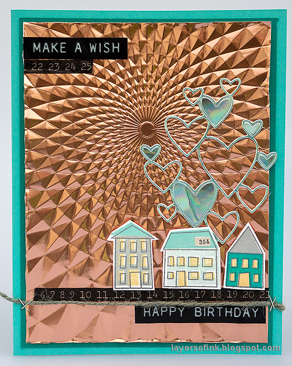 Layers of ink - Metallic Dry Embossing card by Anna-Karin Evaldsson.