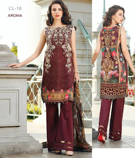 BAROQUE FASHION 2017 CHANTELLE EMBROIDERED LAWN VOL2
