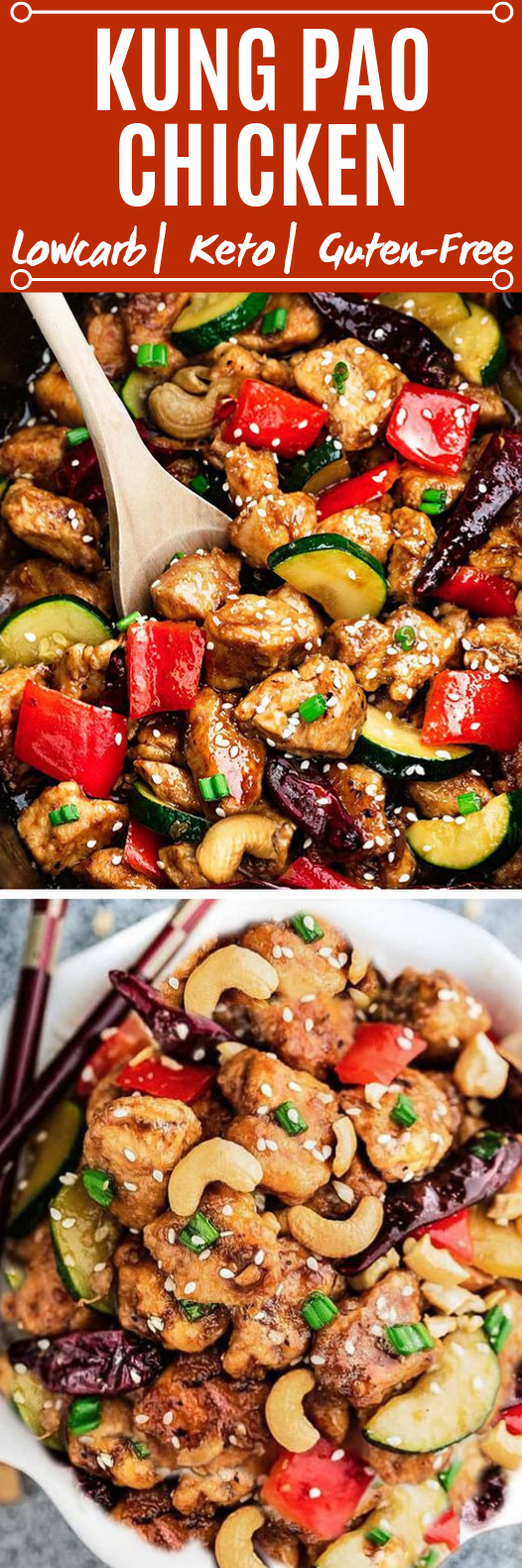 Low Carb Kung Pao Chicken #healthy #lowcarb