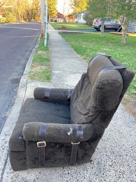 easy chair at curb