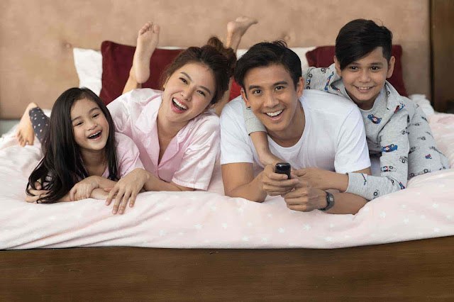 A family enjoying fast internet and seamless entertainment via PLDT Home Fibr