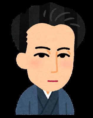 萩原朔太郎の似顔絵イラスト