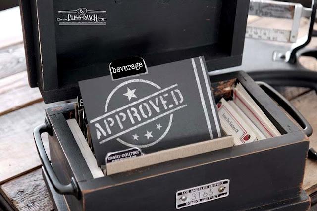 Recipe Box DIY Dividers Bliss-Ranch.com