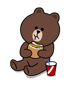 Brown & Cony | [PNG Pack] Sticker LINE Camera