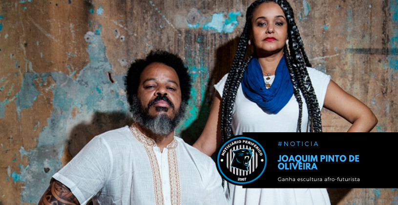 O arquiteto Joaquim Pinto de Oliveira, vulgo Tebas, ganha escultura afro-futurista