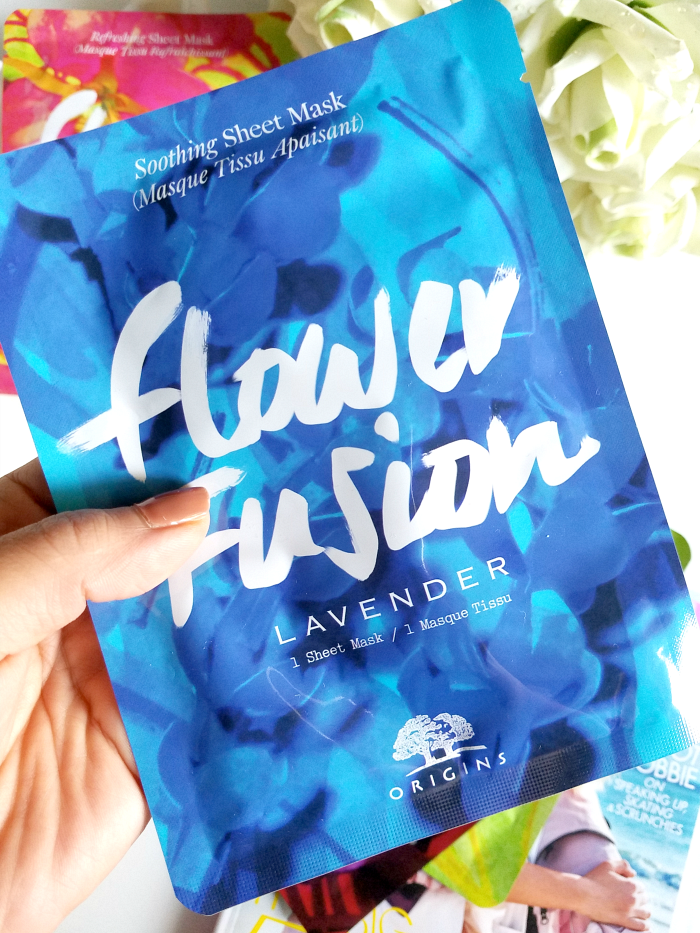 Review: ORIGINS - Flower Fusion Sheet Masks - Soothing Sheet Mask Lavender - Madame Keke Luxury Beauty Lifestyle Blog
