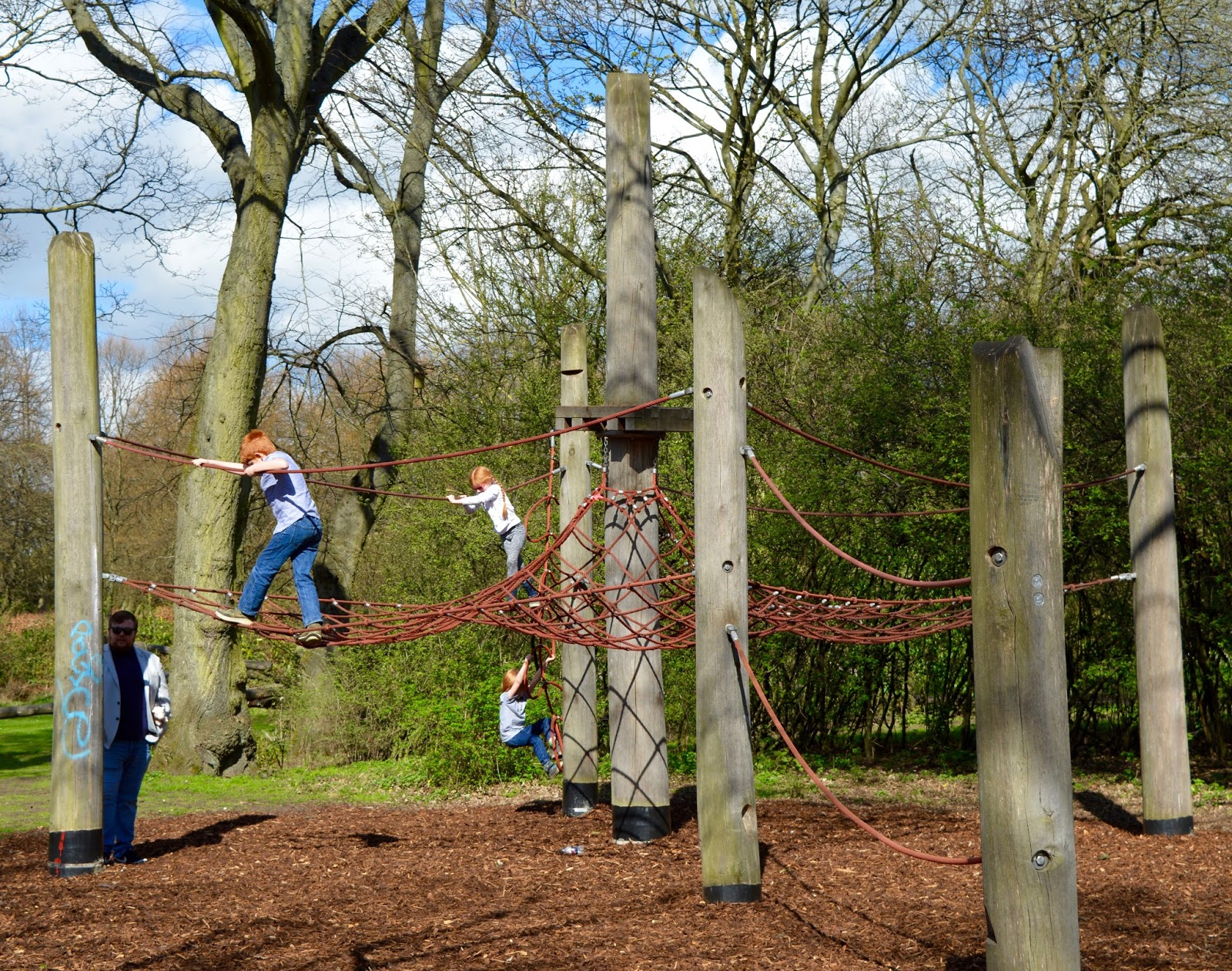 Exhibition Park Newcastle |  Net climbing in the park