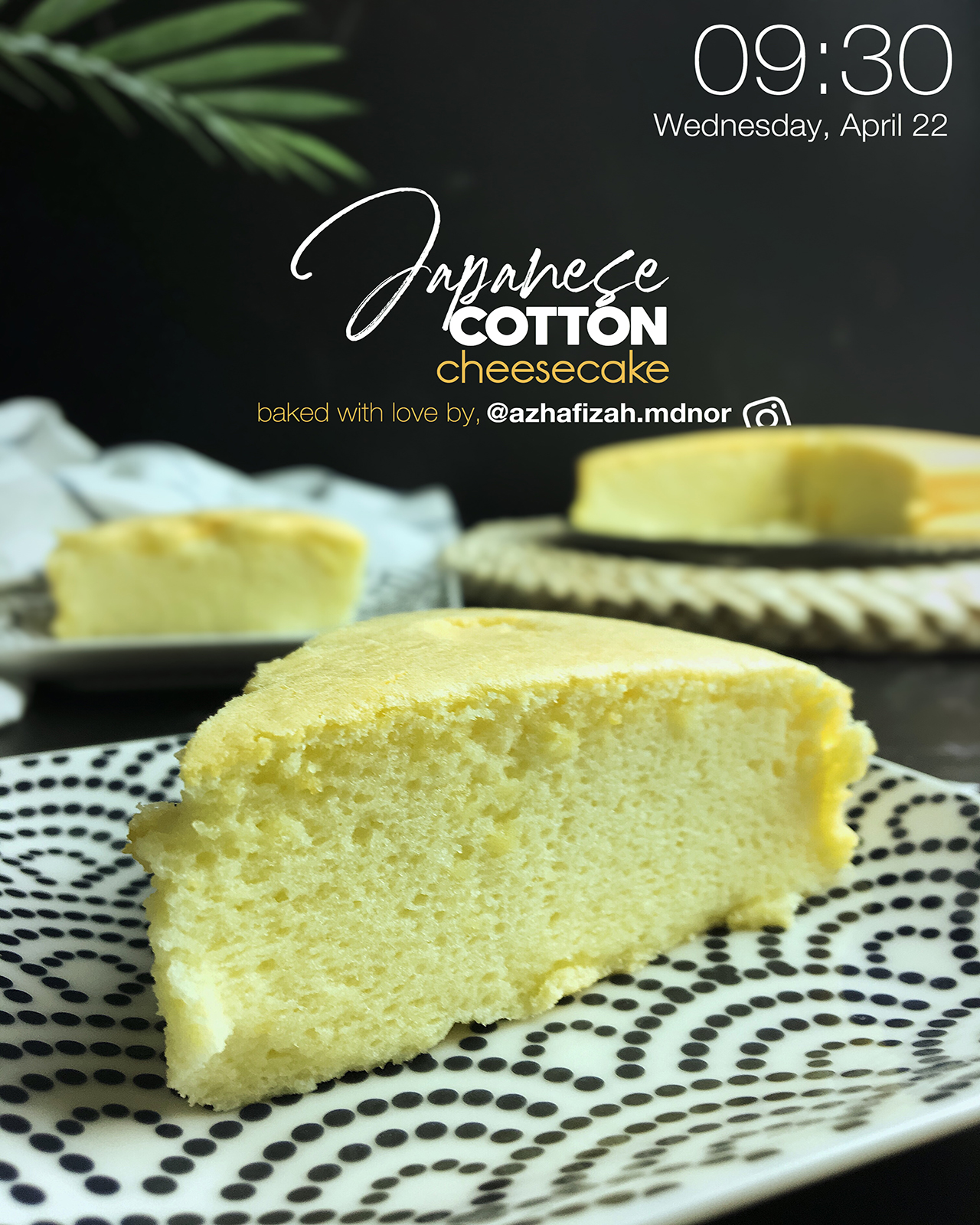 Resepi Japanese Cotton Cheesecake