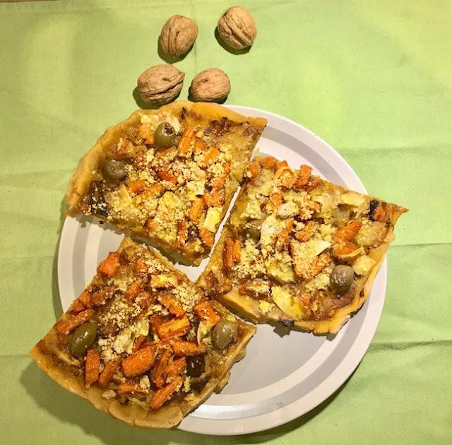 """Alt=""""pizza vegane par cathy Ducasse"""""""
