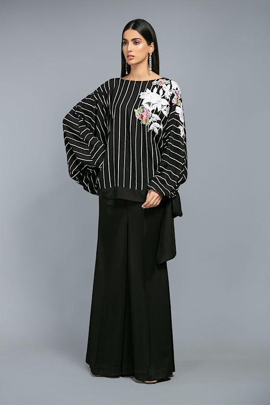 Maria B lawn black arabicl dress