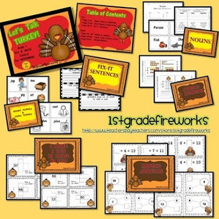 Let's Talk TURKEY ( TpT 1stgradefireworks)