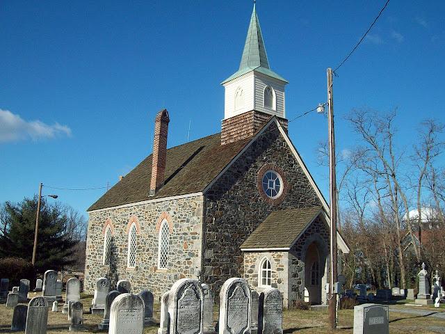 Iglesia y cementerio, Old Salem, NC. Foto: Wipedia