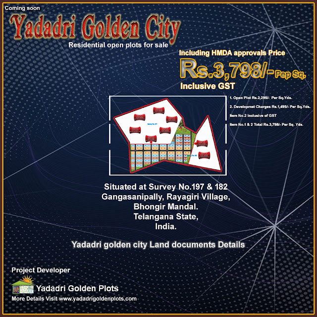 Yadadri golden city Land documents Details