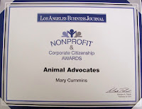 Mary Cummins, real estate appraiser, animal advocates, los angeles, california
