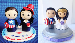 Chibi Avengers cake toppers