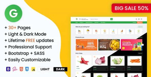 Best Online Grocery Supermarket HTML Template