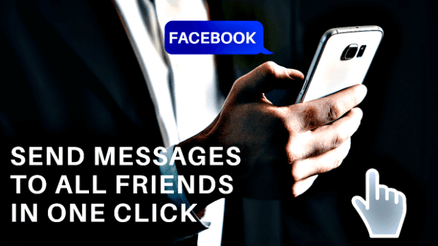 Send Facebook message to all Friends in one click