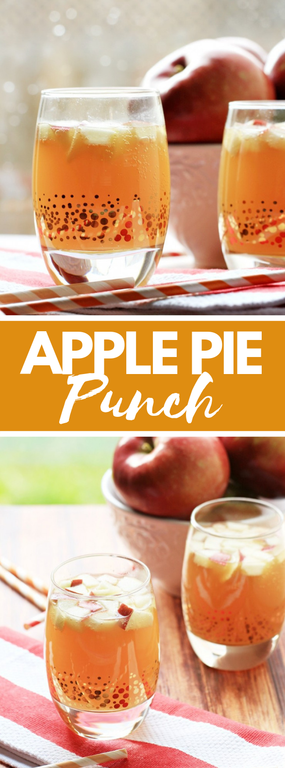 NON ALCOHOLIC APPLE PIE PUNCH #falldrink #thanksgiving
