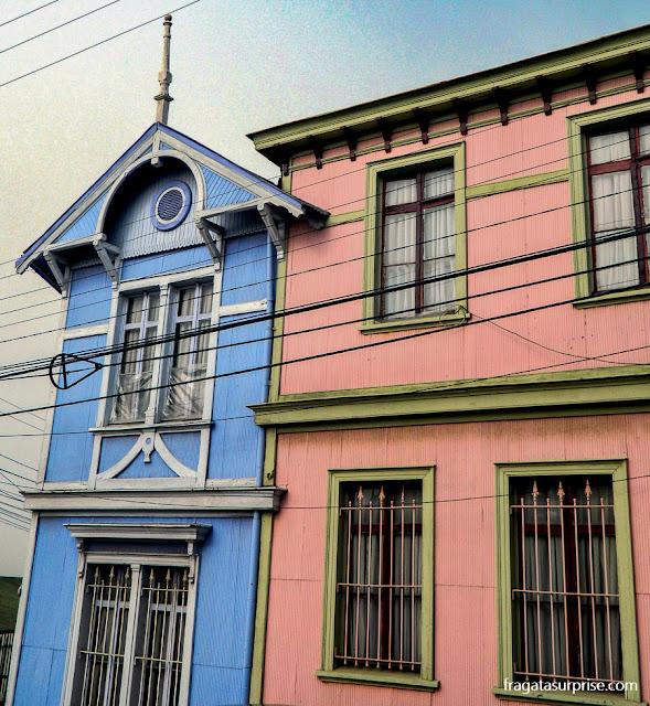 Casas típicas de Valparaíso, Chile