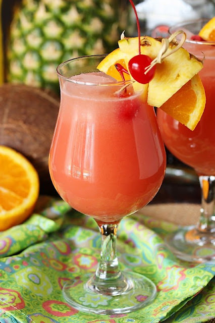 Glass of Tropical Rum Punch Image