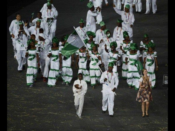 Team Nigeria steps out in tracksuit for Olympics opening ceremony due to unavailability of official kit