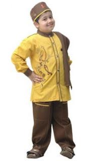 Baju muslim anak laki-laki modis untuk lebaran