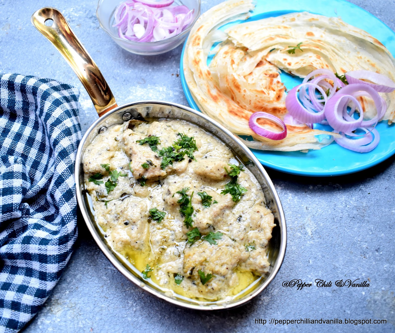 white cream chicken punjabi cream chicken
