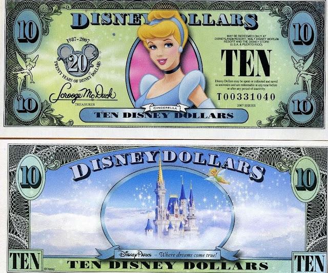 Disney Dollars: O dinheiro da Disney em Orlando