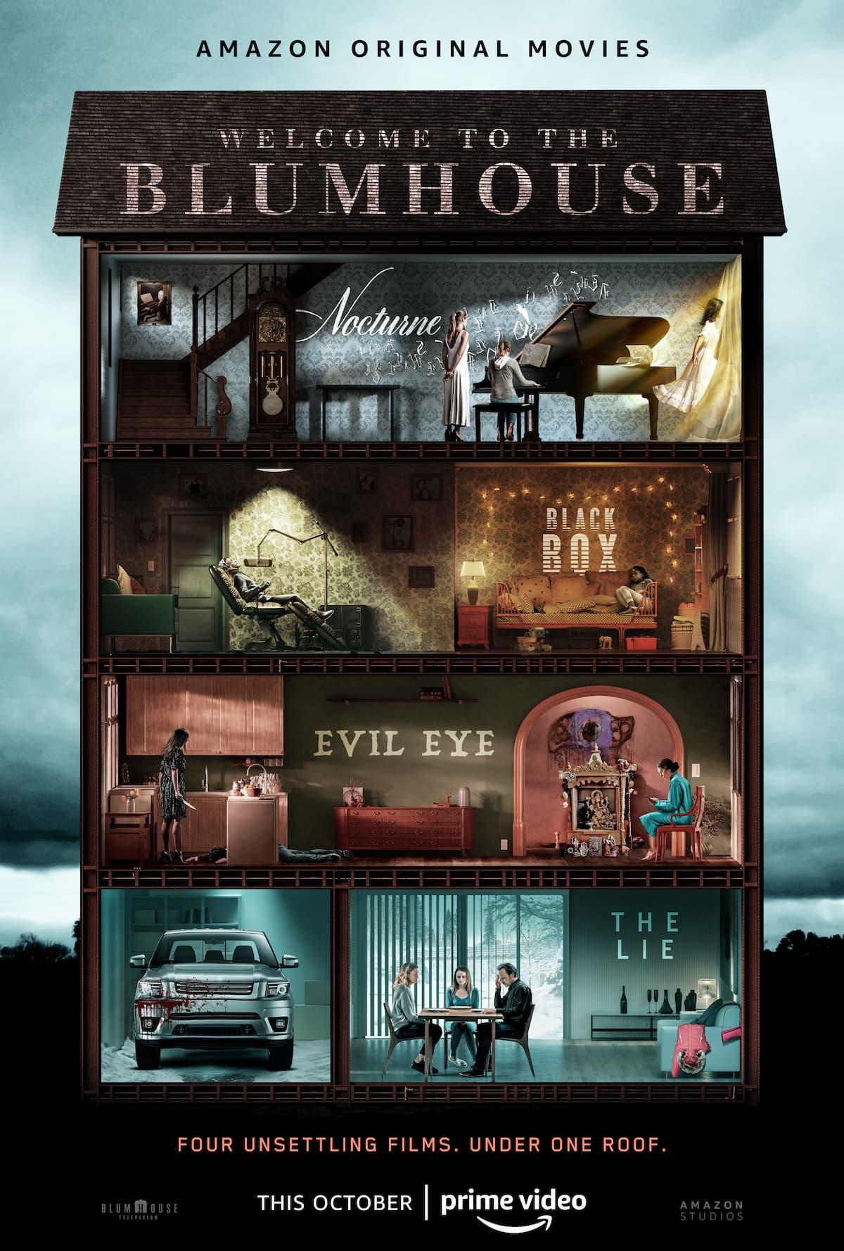 Amazon эксклюзивно покажет четыре новых хоррора Blumhouse перед Хэллоуином - Постер