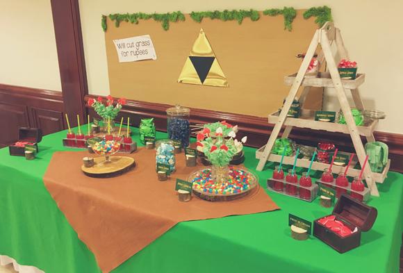 Candy Bar tematizado de Zelda