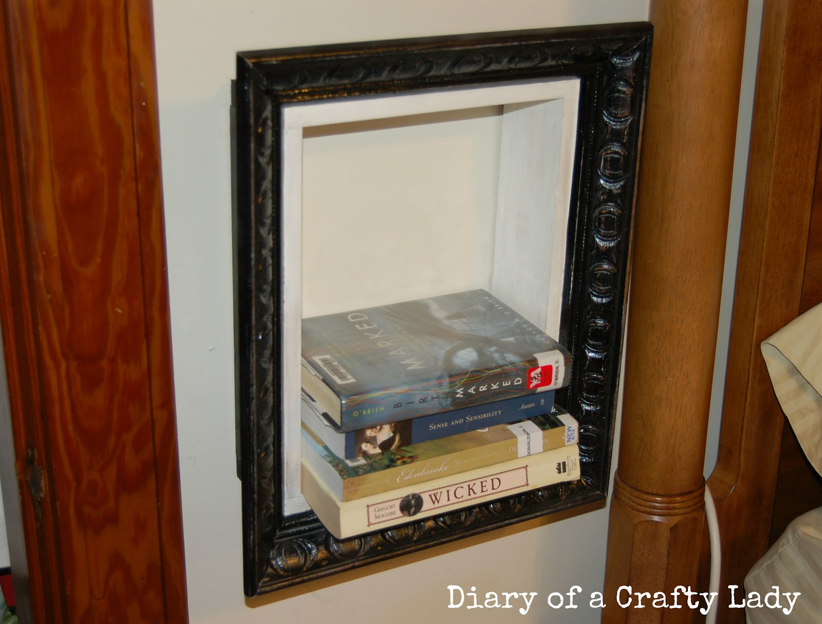 Diary of a crafty lady picture frame book shelf picture frame book shelf jeuxipadfo Gallery