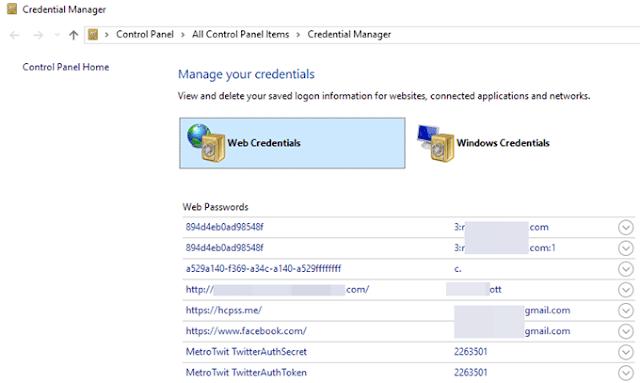 Cara Mencari Password Tersembunyi & Tersimpan di Windows