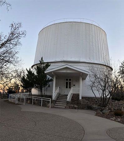 Dome  housing the Lowell Observatory 24 inch Clark Telescope (Source: Palmia Observatory)