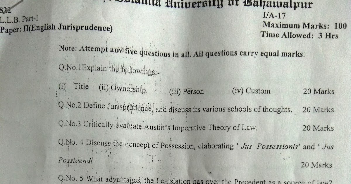 various schools of jurisprudence