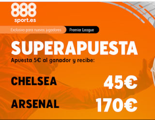 888sport superapuesta premier league Chelsea vs Arsenal 21 enero 2020