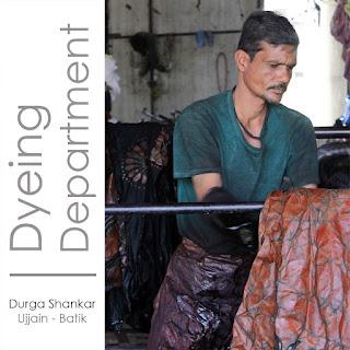 Dyeing department artisan for Kosher Designs LLP