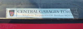 Central Garage Torquay Rear Screen Sticker