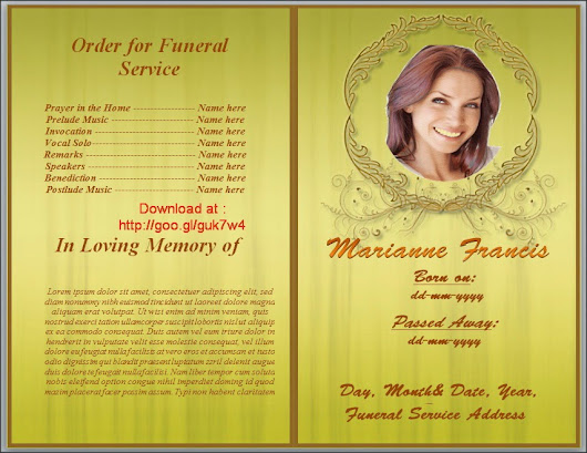 Free Funeral Program Templates Download - Google+