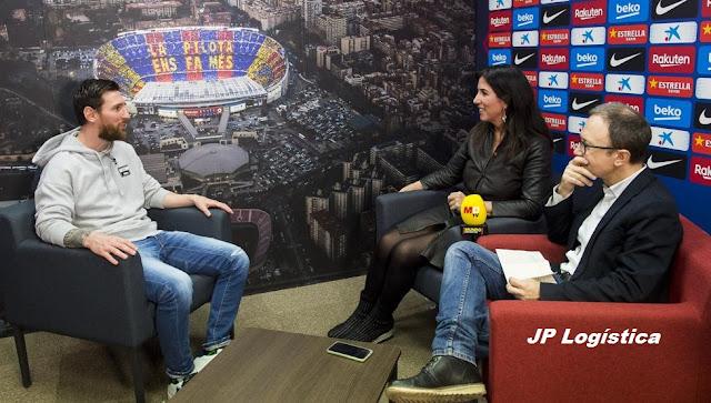 """Entrevista a Leo Messi: """"Amo mucho Barcelona si bien extraño muchísimo Rosario""""."""