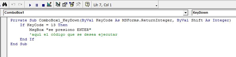 Vba Keycode