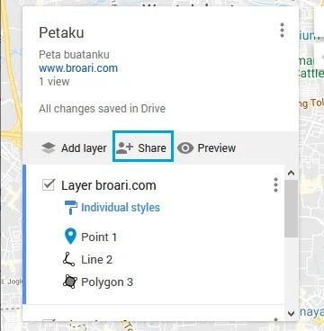 Membuat Peta Sendiri di Google Maps