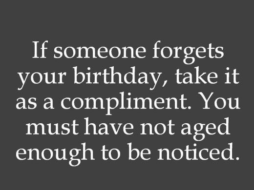 Birthday wishes to someone who ignores you