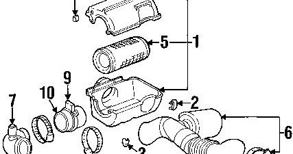 GMC C1500 2001 Pickup Air Intake Cleaner Diagram