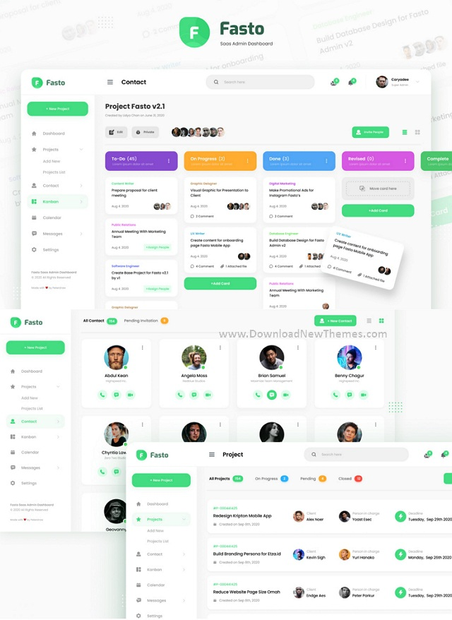 Saas Admin Dashboard UI Design Template