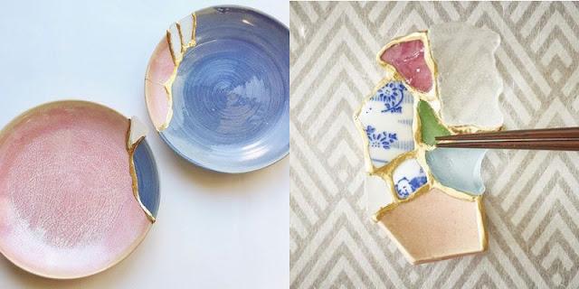 Tomomi Kamoshita - Coupes et porte-baguettes Kintsugi