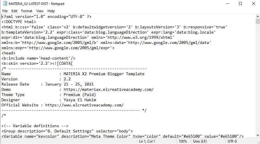 Cara Install Template Blogger dengan Metode Paste
