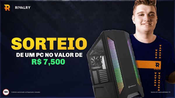 Sorteio de um PC Gamer de R$ 7.500