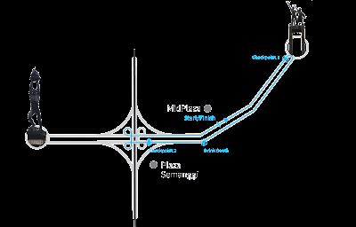 Rute 5k 5km VT Run 2016 Veritrans Jakarta jenderal sudirman bundaran hi hotel indonesia midplaza plaza semanggi plaza senayan